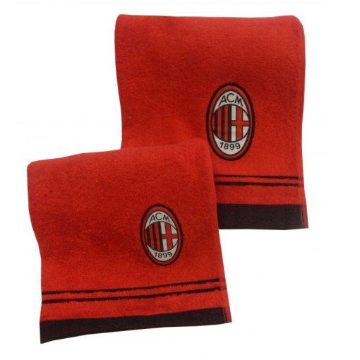 Coppia di asciugamani viso e ospite con il logo della squadra del Milan