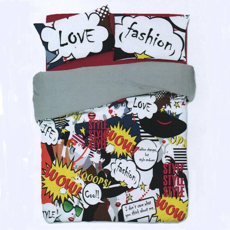 Copripiumino Singolo Ragazza.Copripiumino Ragazza Love Fashion Biancheriaok It