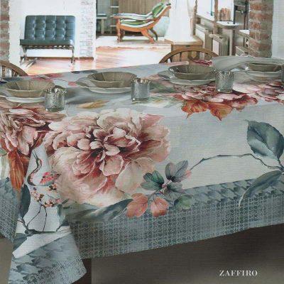 Tovaglia Tavola Elegante Cotone con tovaglioli Zaffiro