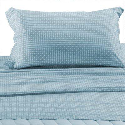 Completo lenzuola Caleffi singolo azzurro Clan