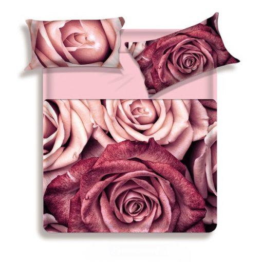 Completo lenzuola matrimoniali Biancaluna Bordy