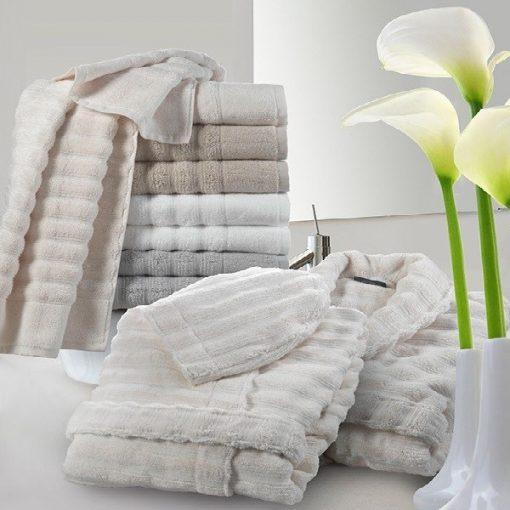 Accappatoio con cappuccio Luxury bianco