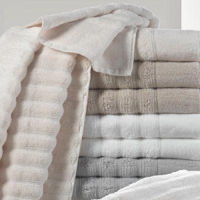 Asciugamani viso + ospite Mirabello Luxury bianco