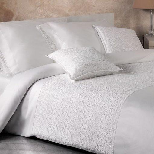 Cuscino arredo decorativo bianco Lille Mirabello