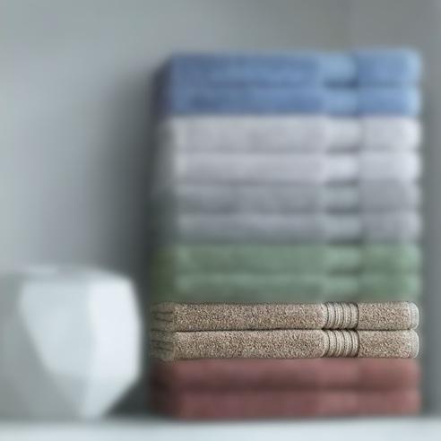 Asciugamano viso + ospite marrone Carrara Twist