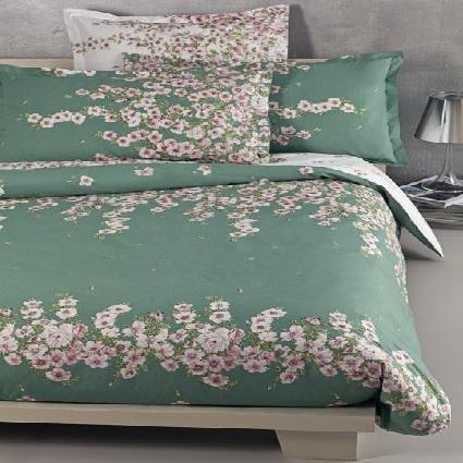 copripiumino-matrimoniale-verde-mirabello-rosa-primula