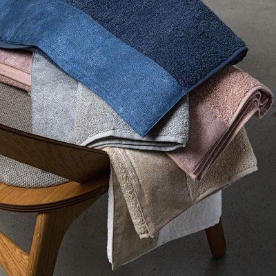 Coppia asciugamani viso+ospite Fazzini Galuchat in spugna di puro cotone da 500 gr/mq.